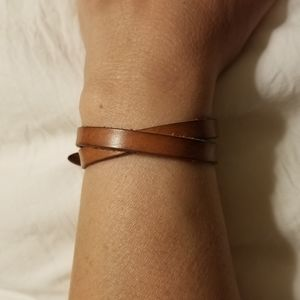 Fossil Wrap Leather Bracelet